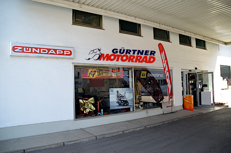 Motorrad Gürtner Eingang